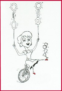 3Happy on a unicyclered