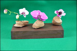 Hand made earth tone natural rock bud vases